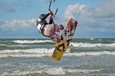 Kiteboarding. — Stockfoto