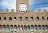 Fragment of the Palazzo Vecchio, the town hall of Florence, Italy. — Stock Photo