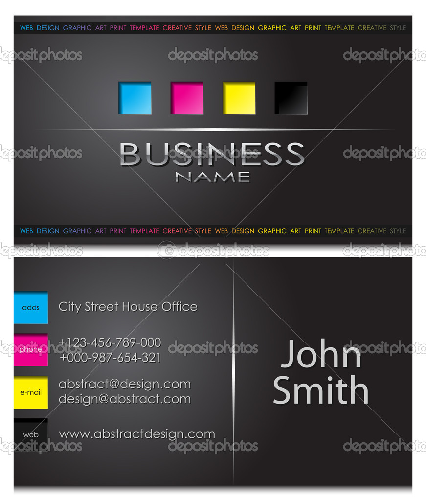 Business card 43 — Stock Vector #2992949