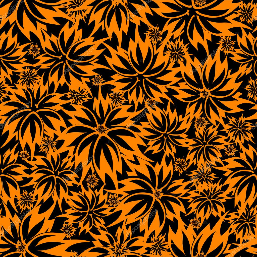 Vector seamless beautiful floral background — Stock Vector #3160927