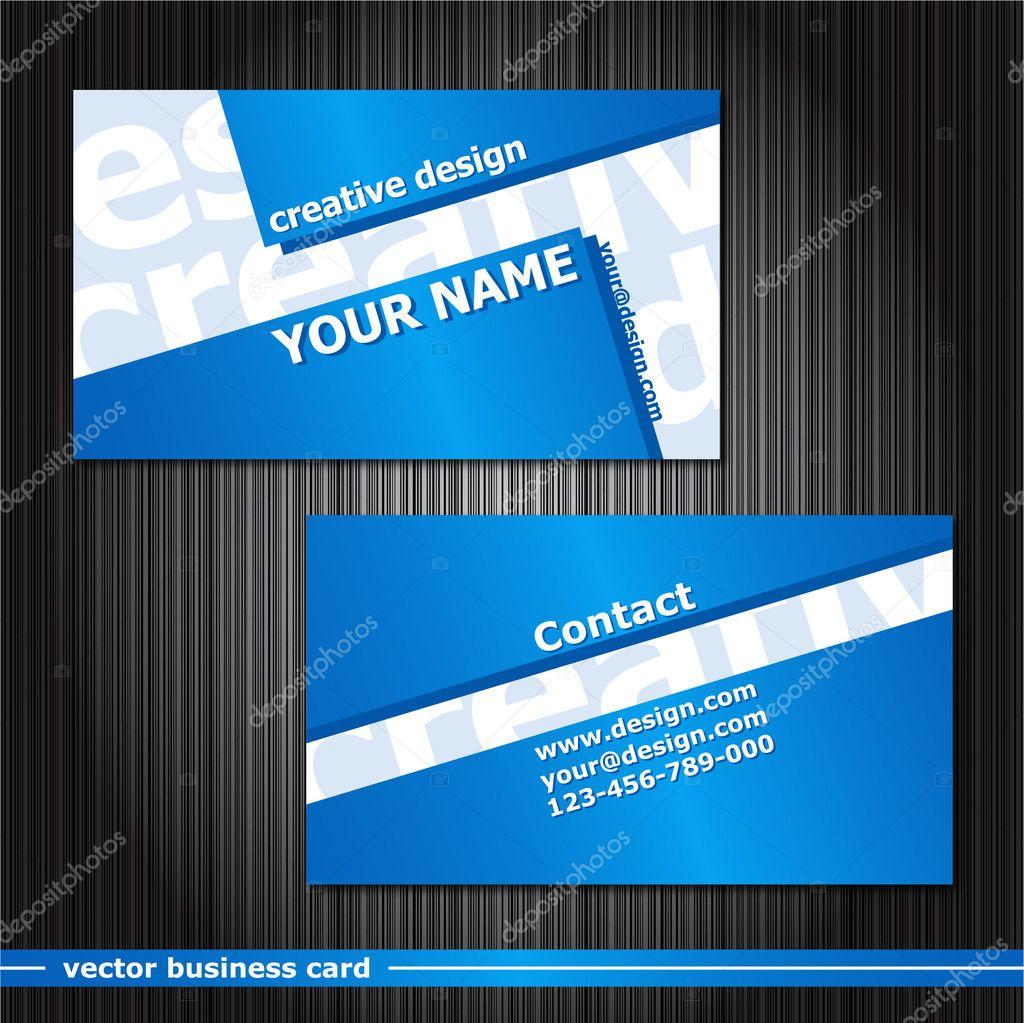 Set of business cards — Stock Vector © palllpalll