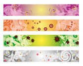 Four colorful banners — Stock Vector