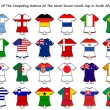 World cup flag strip designs — ストック写真
