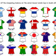 World cup flag strip designs — Stock Photo
