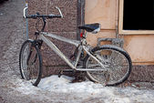Iced bicycle — Stock Photo