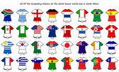 Dünya Kupası bayrak tasarımları şerit — Stok fotoğraf