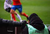 Sports photographer — Stock Photo
