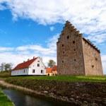 Glimmingehus castle panorama 08 — Stock Photo