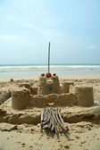 Castle on the beach — Stock Photo