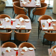 Tables in a resturant — Stock Photo