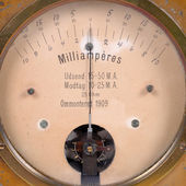 Ampere meter very old — Stock Photo