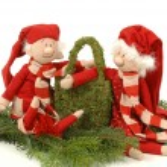 Christmas couple — Stock Photo