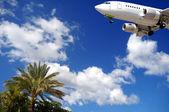 Plane at exotic destination — Stock Photo