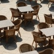 Many empty tables — Stock Photo