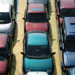 Stock Photo: Many parked cars
