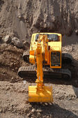 Large excavator working — Stock Photo