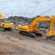 Working excavators — Stock Photo