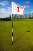 Golf flag number one — Stock Photo