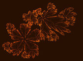 Abstract Fractal Design of Autumn Leaves — Stock Photo