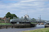 Road Swing Bridge — Stock Photo