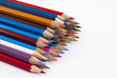Stack of Coloured Pencils — Stock fotografie