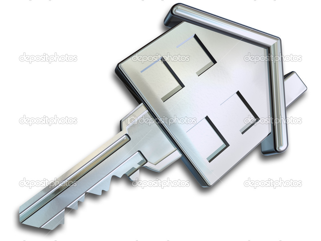 Illustration of a key in the shape of a house — Foto Stock #2787898