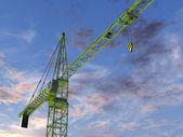 Tower Crane at Twilight — Stock Photo