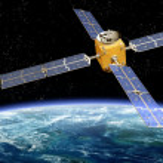 Orbiting Satellite — Stock Photo