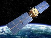 Kommunikation satellit — Stockfoto
