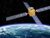Satelliet in een baan om — Stockfoto