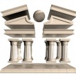 Deconstructed Greek Temple - Foto Stock