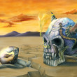 Egg and Skull Painting — Stok Fotoğraf #3467040