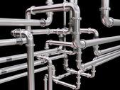 лабиринт трубопроводов — Стоковое фото