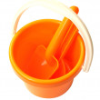 Bucket with showels — Stock Photo