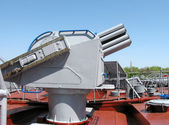Warship gun — Stock Photo