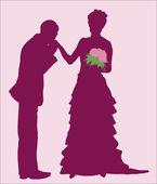 Bruiloft — Stockvector