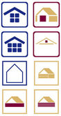 Collection of signs at home. — Stock Vector