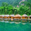 Houses on a raft Thailand — Stock Photo