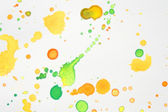 Watercolor background of colored drops of paint — Stock Photo