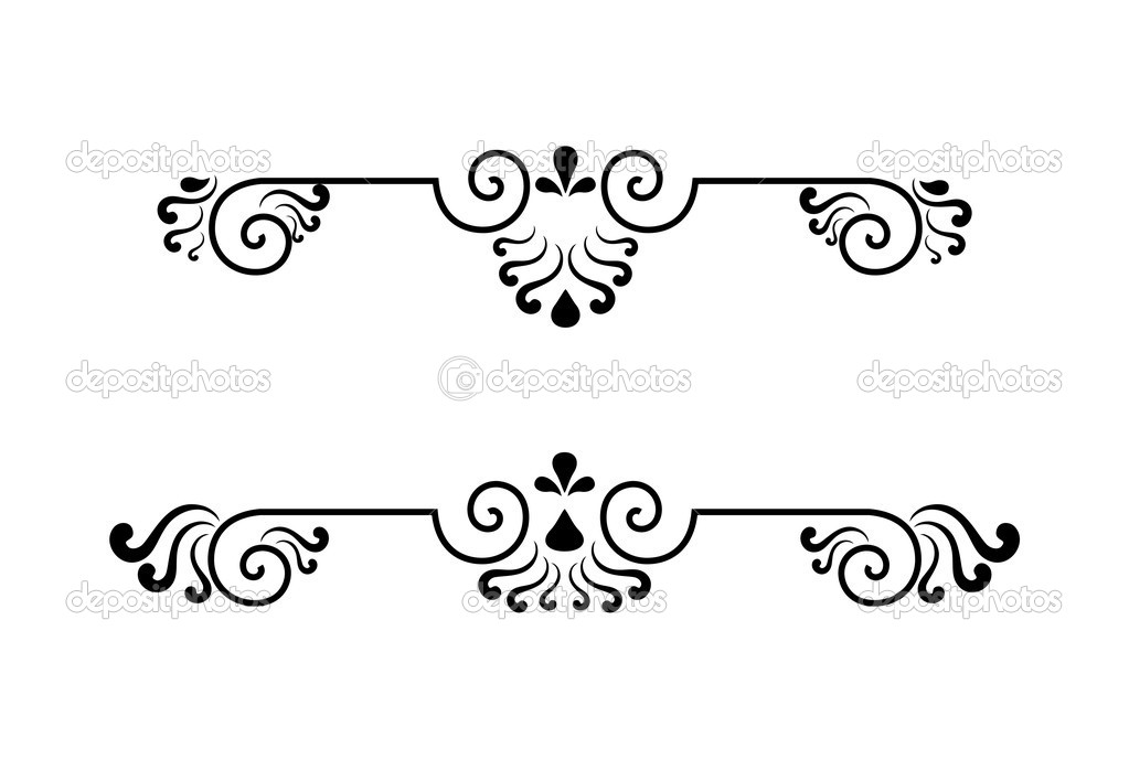 Set of elements decoration ornate — Stock Vector #2890879