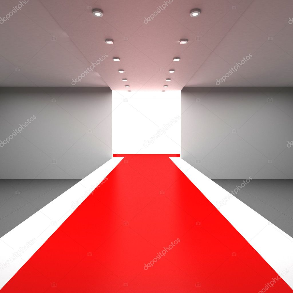 Empty hall with a podium for fashion display — Stock Photo #3731166