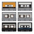 Six audiocassettes 1 — Stock Vector