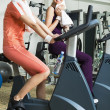 Two Women Working Out - Stok fotoğraf