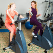 Two Women Working Out — Stock Photo