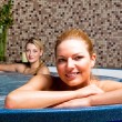 Two Young Women in Hot Tub — Stock Photo #3105688
