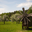 Old woden windmill in countryside — Stock Photo