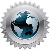 Globe of the World — Stock Vector