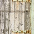 Door with rusty hinges — Stock Photo