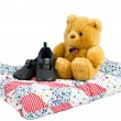 Stock Photo: Teddy bear with shoes
