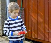 Portrait of a small boy — Stock Photo